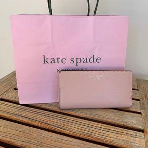 Kate Spade Large Slim Bi-fold Wallet Light Pink